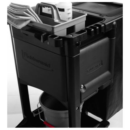 Rubbermaid 1861443 Locking Cabinet Door Kit for Executive Janitor Cleaning Cart, Black