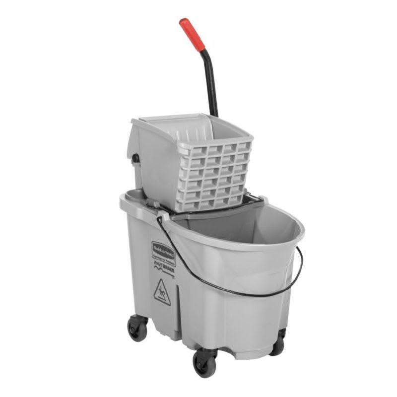 Rubbermaid 1863897 35-Qt Side Press Dirty Water Bucket Combo - Gray