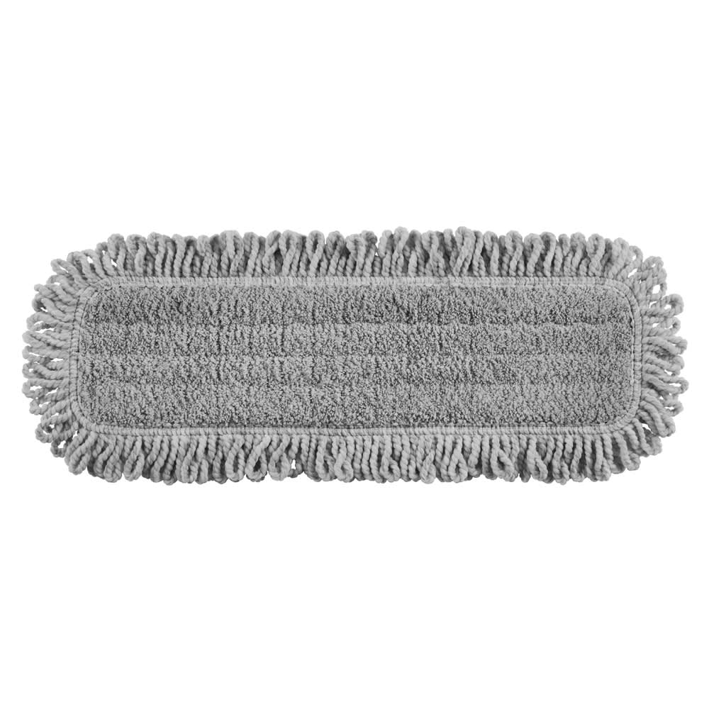 "Rubbermaid 1867397 18"" Dust Mop Head Only w/ Looped Ends, Gray"