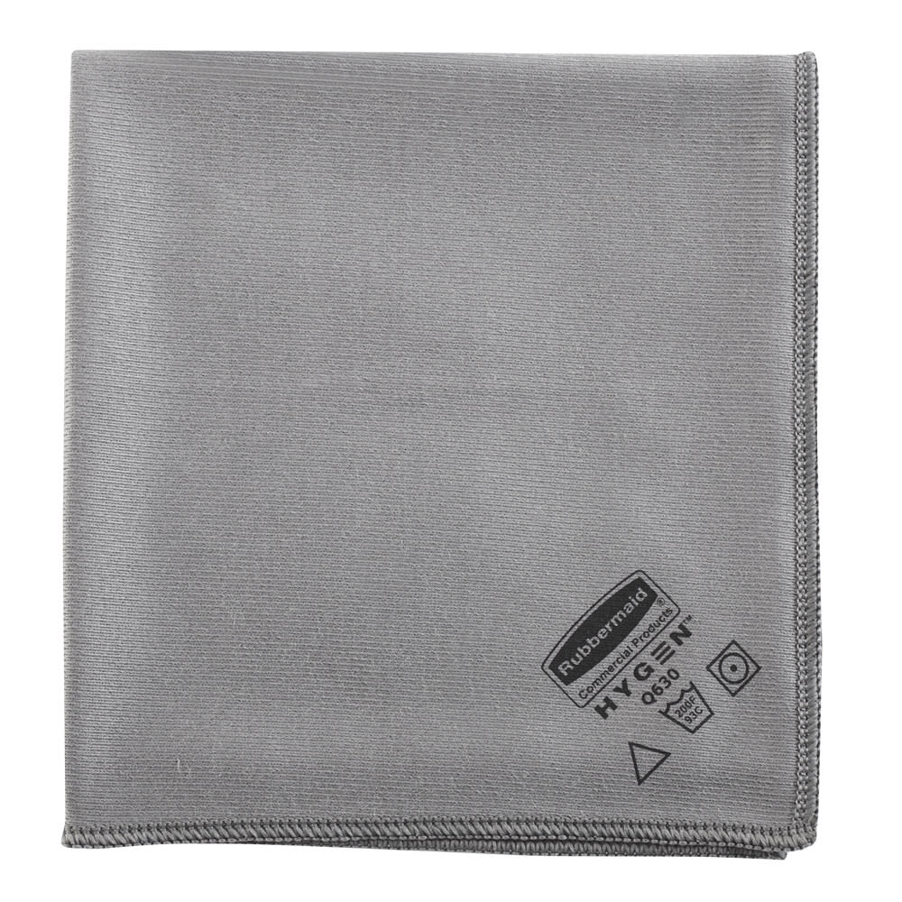 "Rubbermaid 1867398 16"" Executive Microfiber Glass Cloth - Gray"