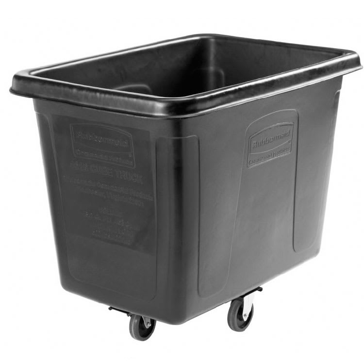 Rubbermaid 1867537 .6-cu yd Trash Cart w/ 500-lb Capacity, Black