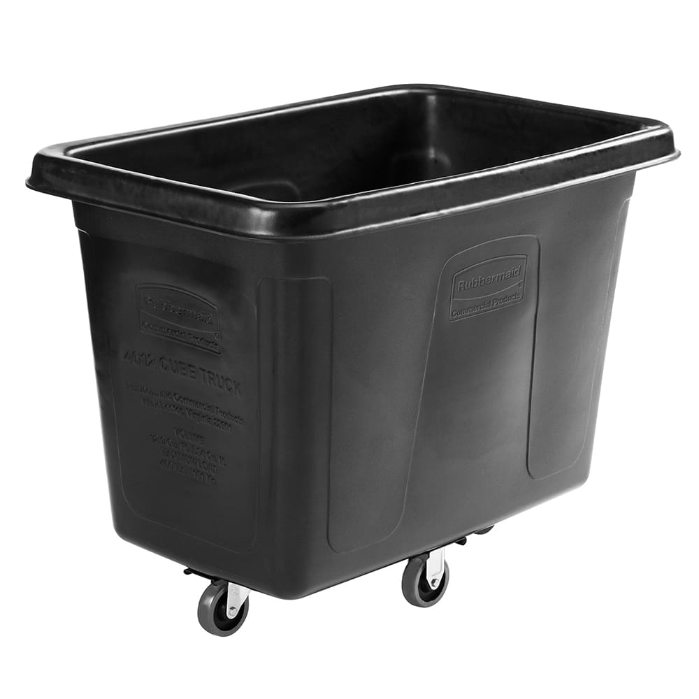 Rubbermaid 1867538 .4-cu yd Trash Cart w/ 400-lb Capacity, Black