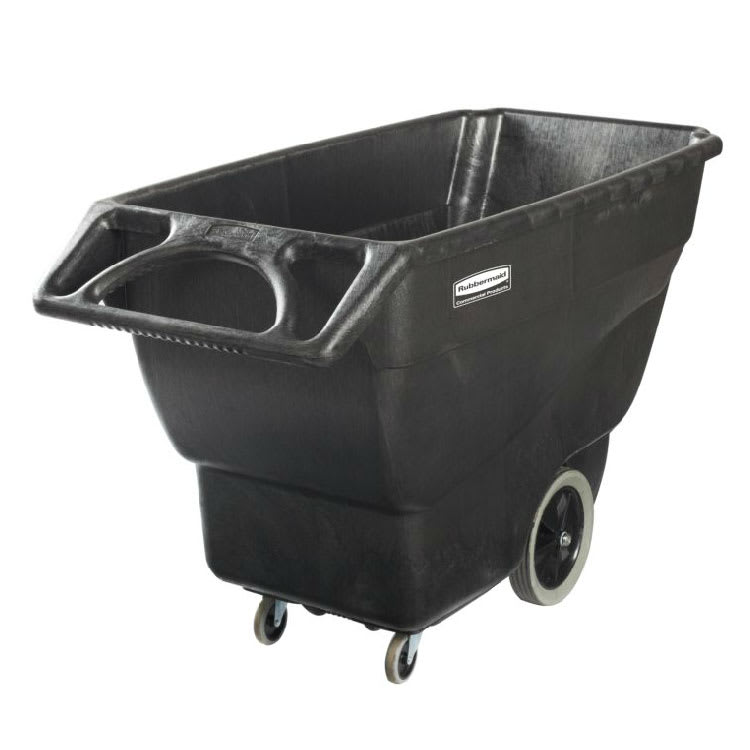Rubbermaid 1867539 .75 cu yd Trash Cart w/ 600 lb Capacity, Black