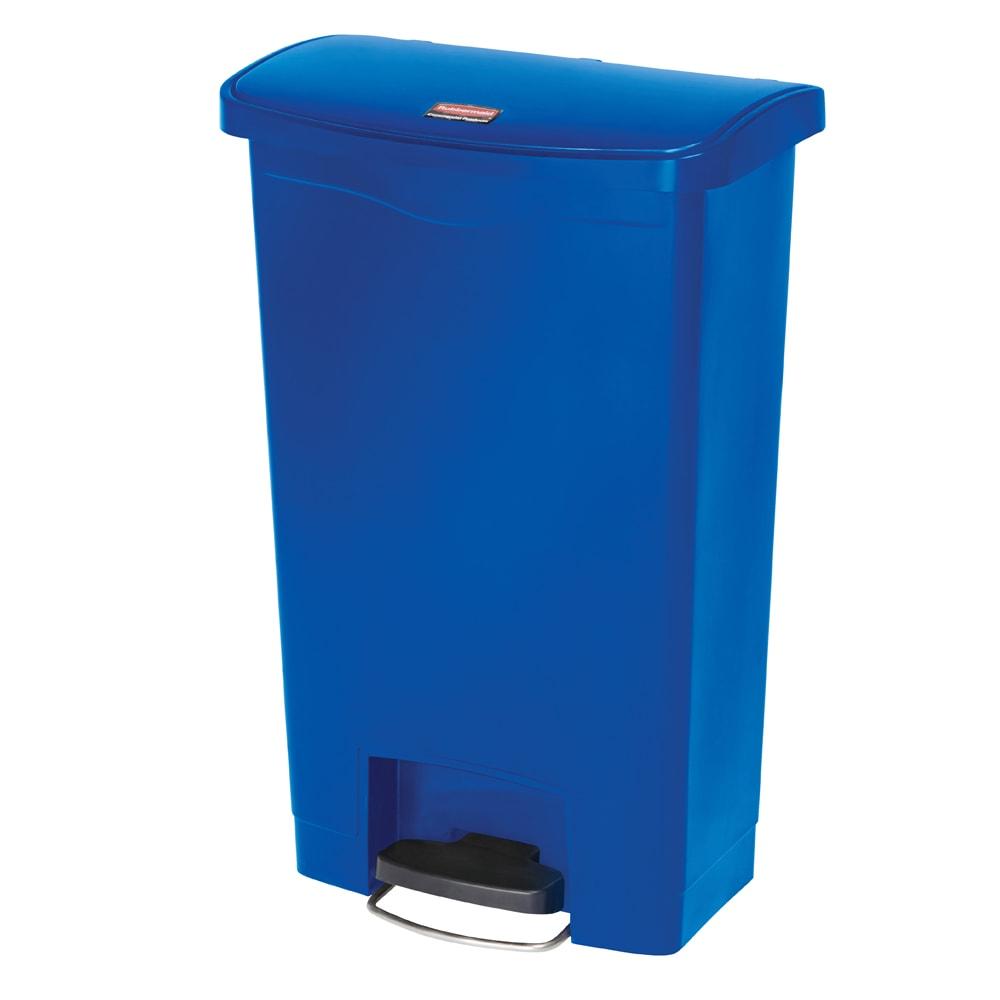 "Rubbermaid 1883593 13-gal Rectangle Plastic Step Trash Can, 17.97""L x 11.48""W x 28.3""H, Blue"