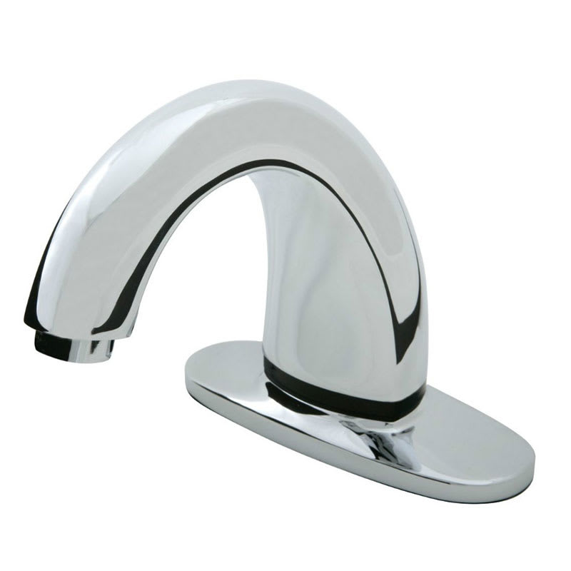 Rubbermaid 1903284 Deck Mount Auto Faucet - Valve Control Module, Touch Free, Polished Chrome