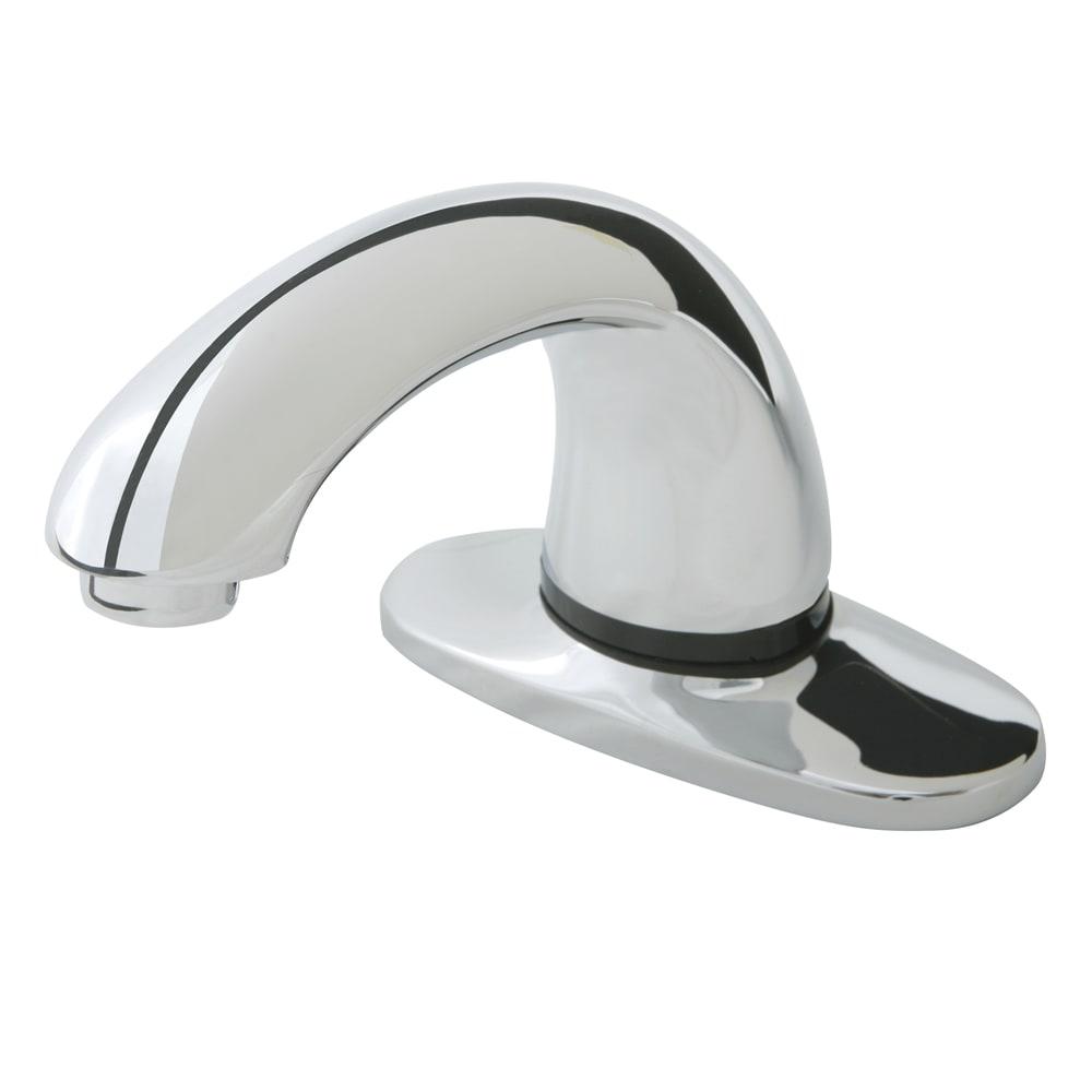"""Rubbermaid 1903290 Deck Mount Auto Faucet - 8"""" Centers, Touch Free, Chrome"""