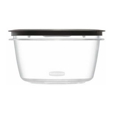 Rubbermaid 1937693 14 cup Food Storage Container w/ Gray Lid - Polycarbonate, Clear