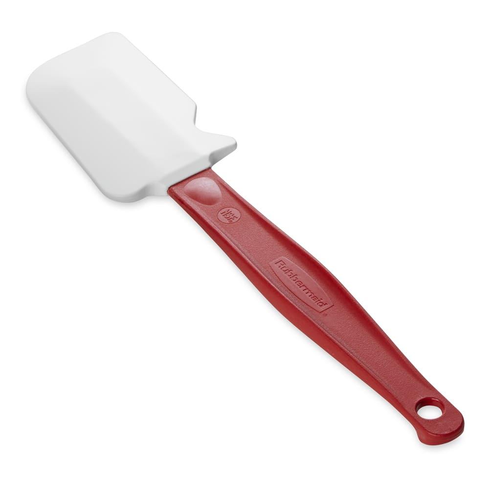 """Rubbermaid FG1962000000 9 1/2"""" Scraper Spatula - Red Handle"""