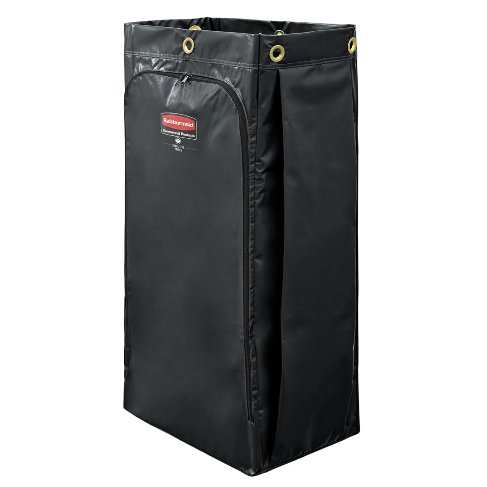 Rubbermaid 1966886 34-gal Vinyl Bag for Janitor Cleaning Cart, Black
