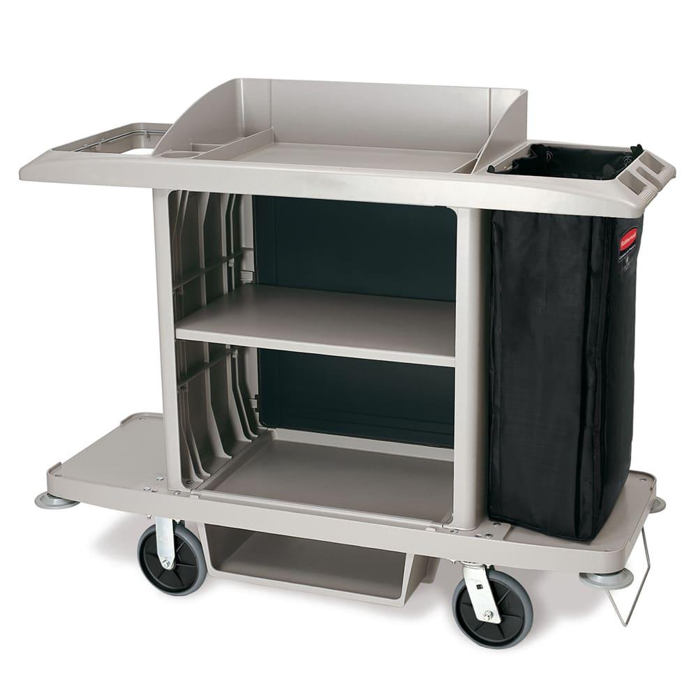 "Rubbermaid 1969596 Housekeeping Cart w/ Vacuum Holder - 61.75""L x 23.13""W x 18.63""H"