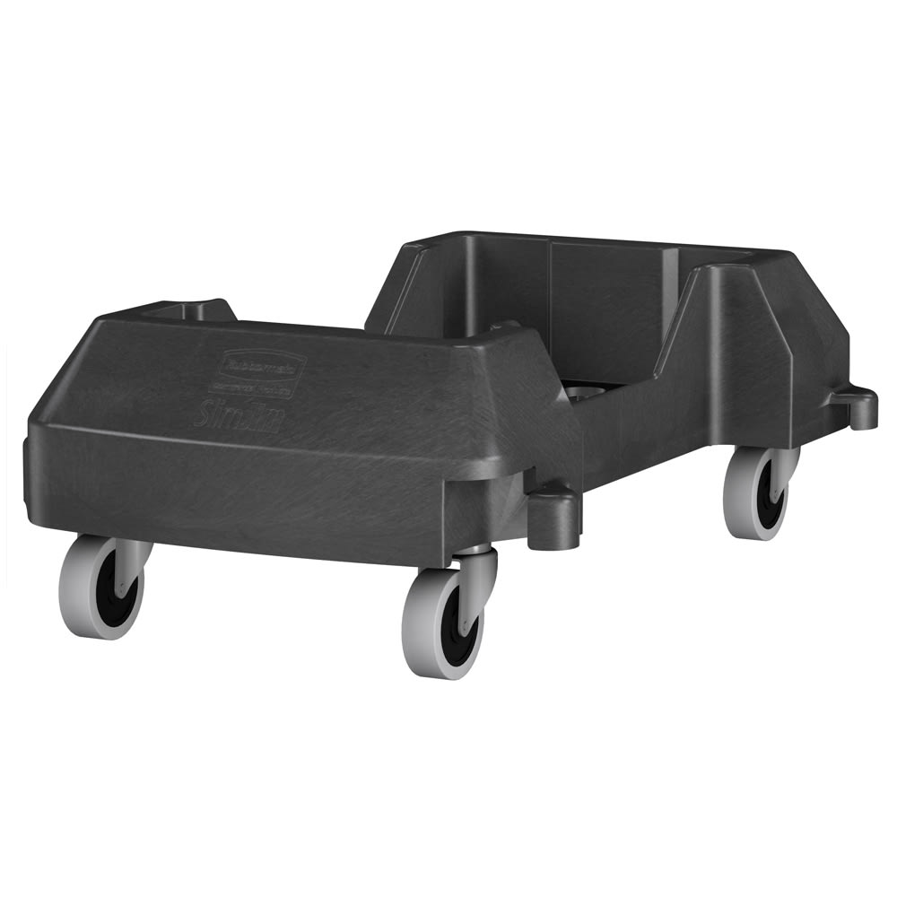 Rubbermaid 1980602 Trolley for Slim-Jim® 3540 & 3541 Containers - Resin, Black