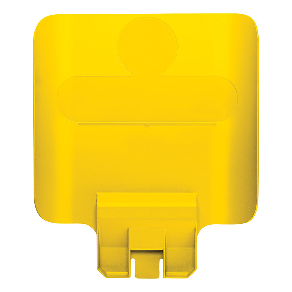 """Rubbermaid 2007907 Billboard for Slim Jim® 23 gal Recycling Station Containers - 11.75"""" x 14.25"""", Plastic, Yellow"""