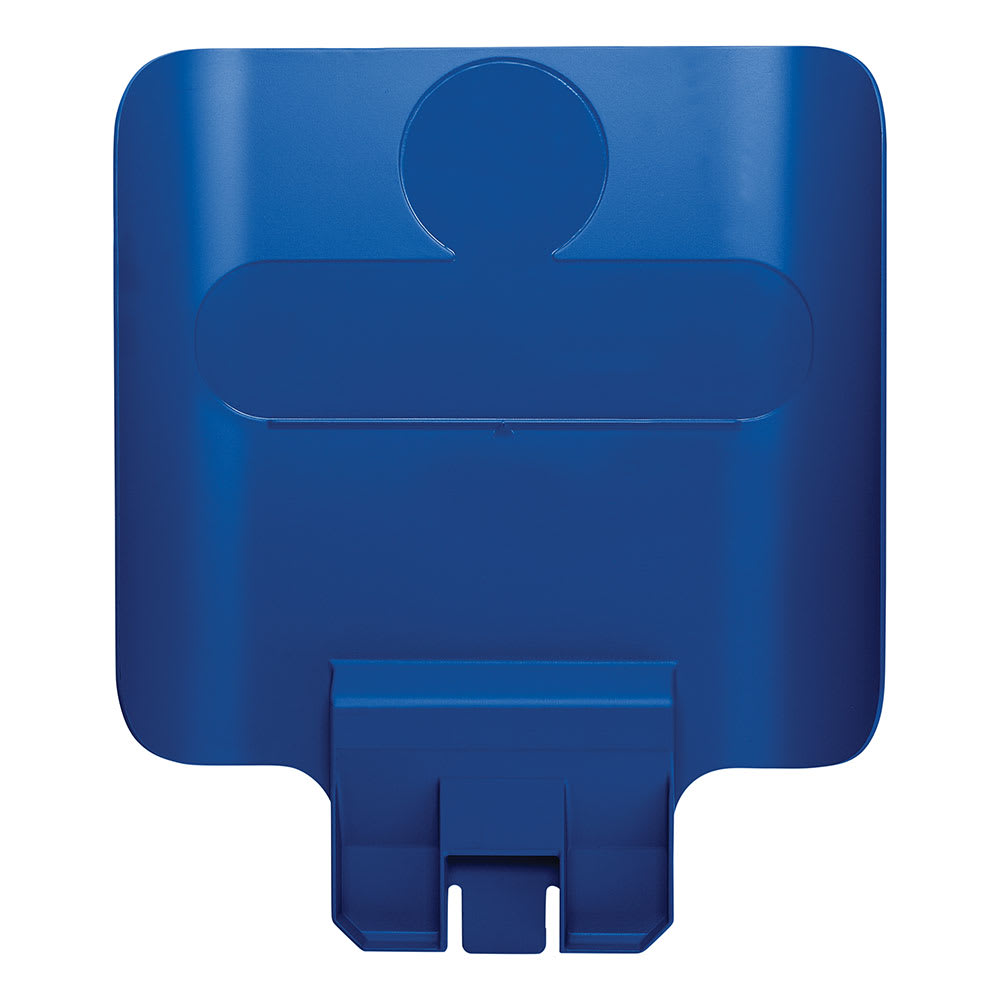 """Rubbermaid 2007909 Billboard for Slim Jim® 23 gal Recycling Station Containers - 11.75"""" x 14.25"""", Plastic, Blue"""