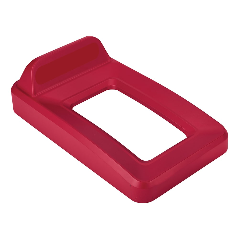 Rubbermaid 2018218 Rectangle Recycling Lid for 16 & 23 gal Slim Jim® Recycling Containers - Plastic, Red