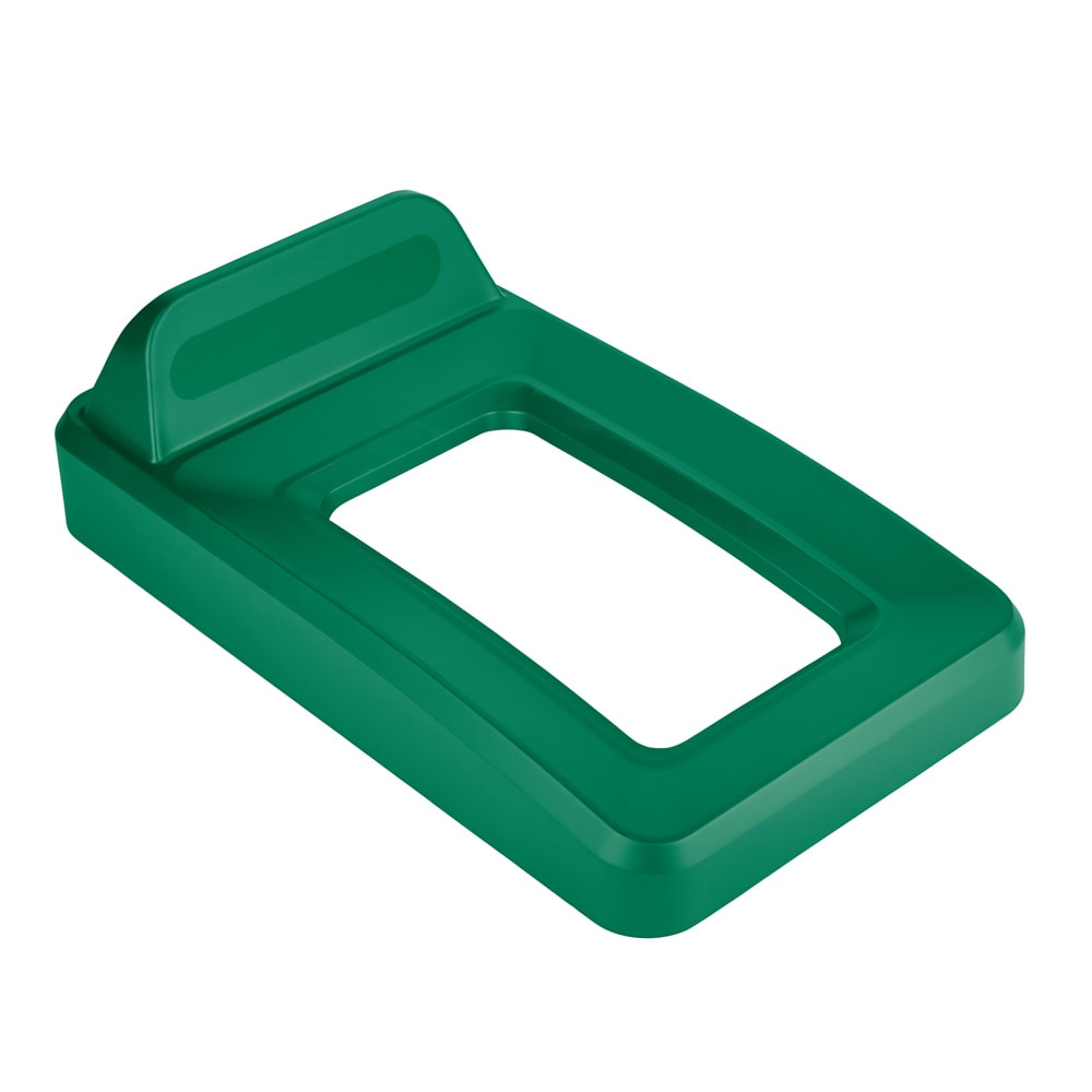 Rubbermaid 2018220 Rectangle Recycling Lid for 16 & 23 gal Slim Jim® Recycling Containers - Plastic, Green