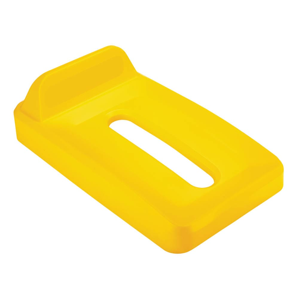 Rubbermaid 2018274 Rectangle Recycling Lid for 16 & 23 gal Slim Jim® Recycling Containers - Plastic, Yellow