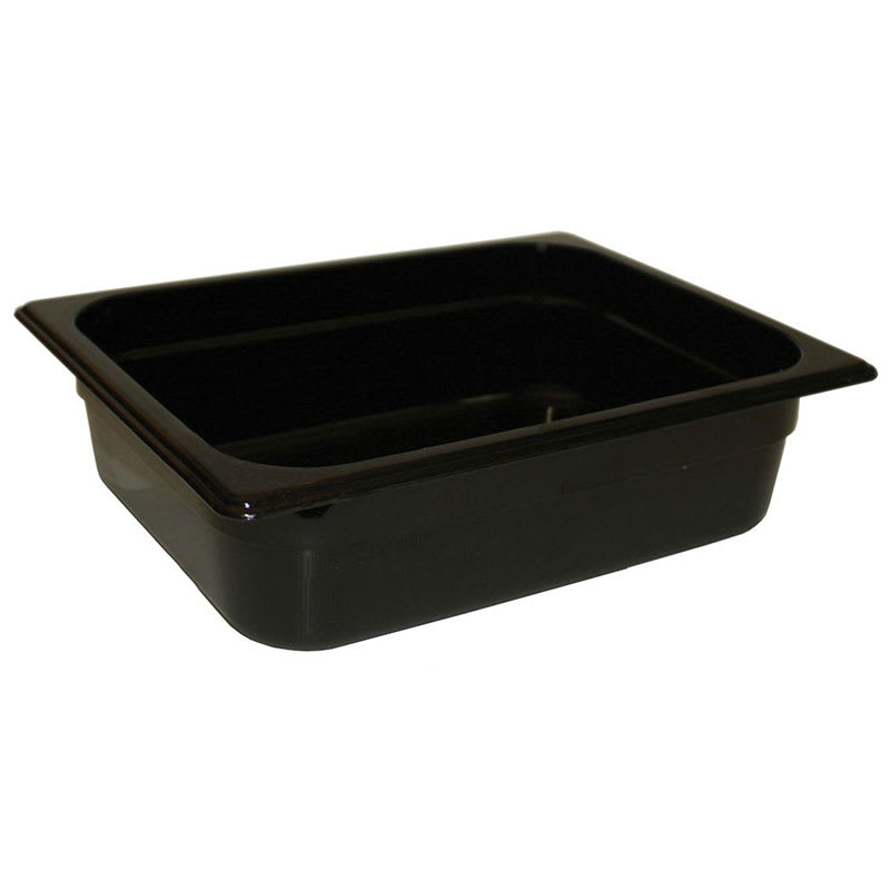 "Rubbermaid FG211P00BLA Hot Food Pan - 1/4 Size, 4"" Deep, Poly, Black"