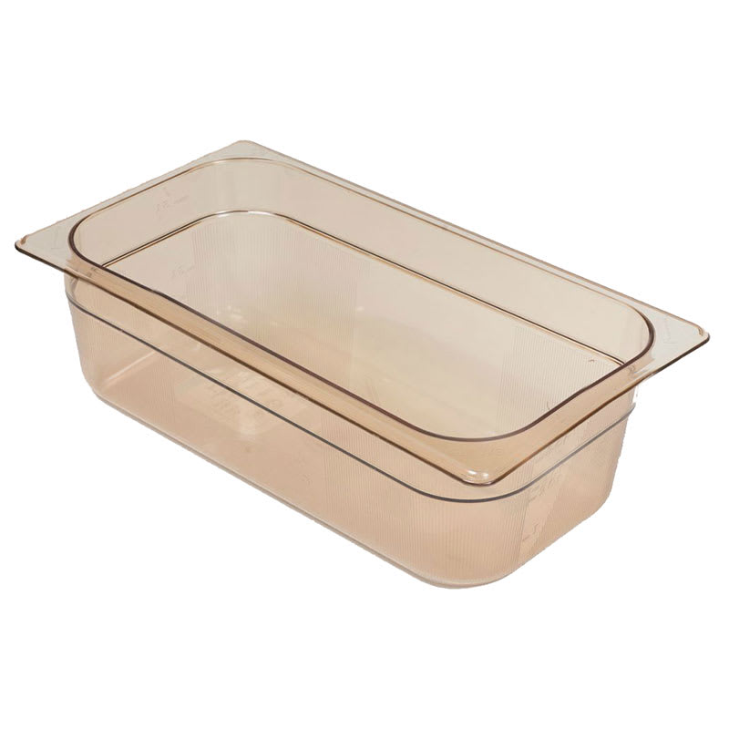 "Rubbermaid FG216P00AMBR Hot Food Pan - 1/3 Size, 2 1/2"" Deep, Poly, Amber"