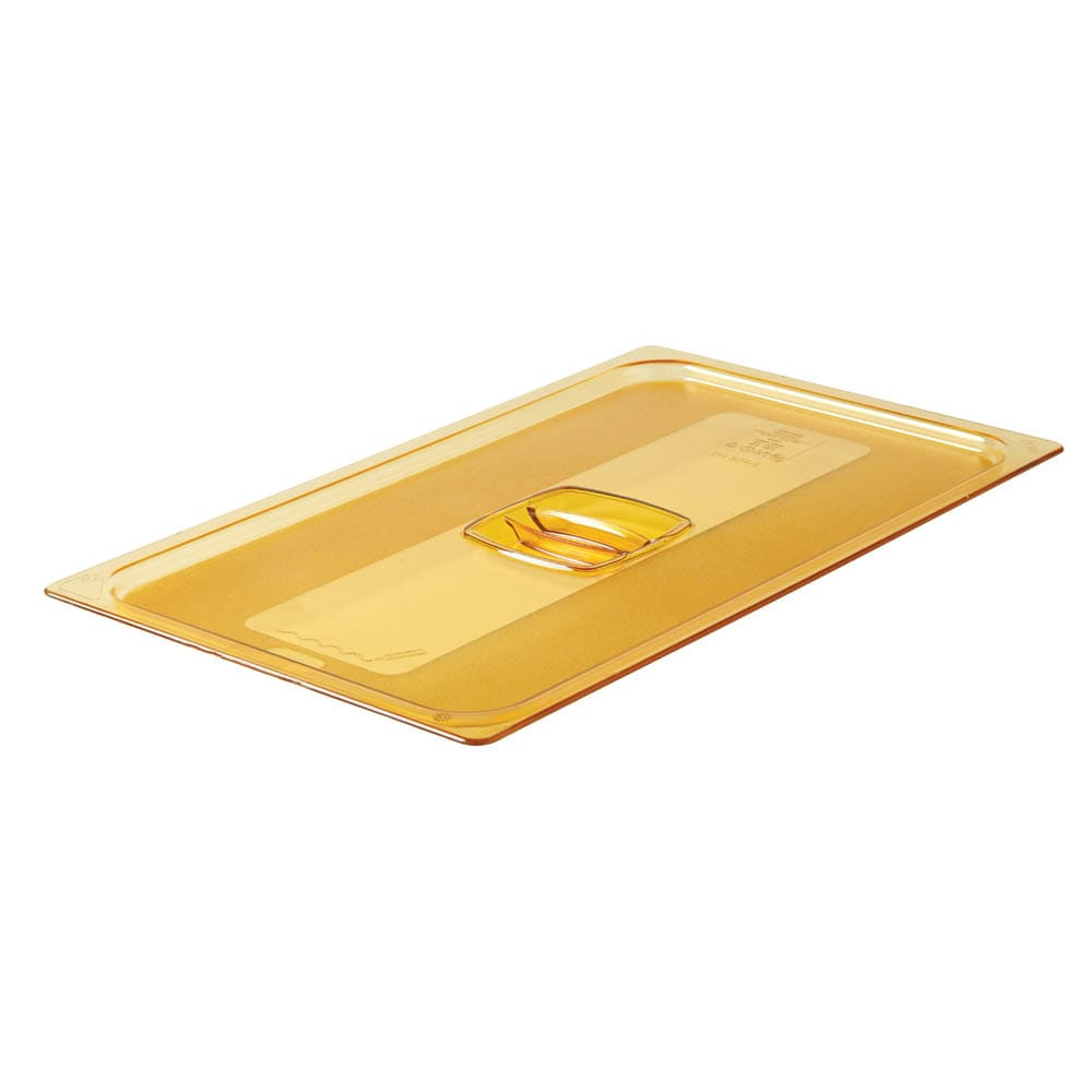 Rubbermaid FG234P00AMBR Hot Food Pan Cover - Full Size, Amber