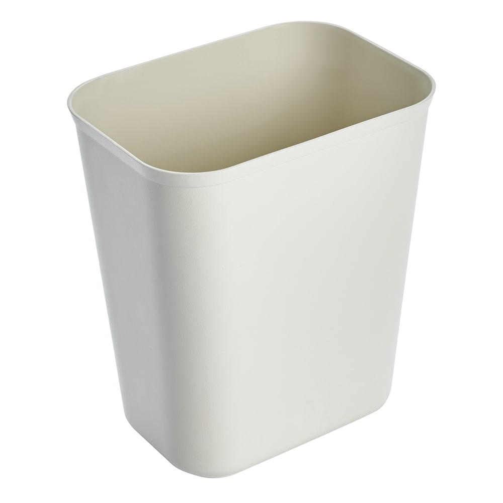Rubbermaid FG254000BEIG 7-qt Rectangle Waste Basket - Plastic, Beige