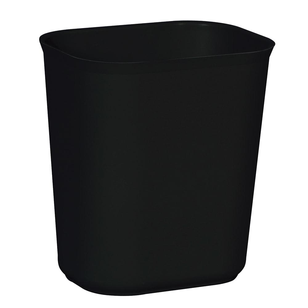 Rubbermaid FG254100BLA 14-qt Rectangle Waste Basket - Plastic, Black