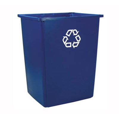 Rubbermaid FG256B73BLUE 56-gal Multiple Material Recycle Bin - Indoor/Outdoor