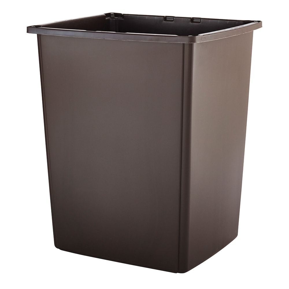 Rubbermaid FG256B00BRN 56 gallon Commercial Trash Can - Plastic, Rectangular