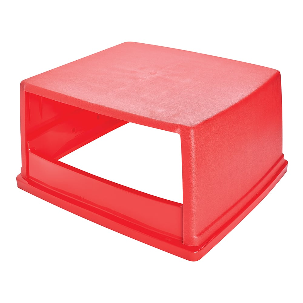 Rubbermaid FG256V00RED Square Dome Trash Can Lid - Plastic, Red