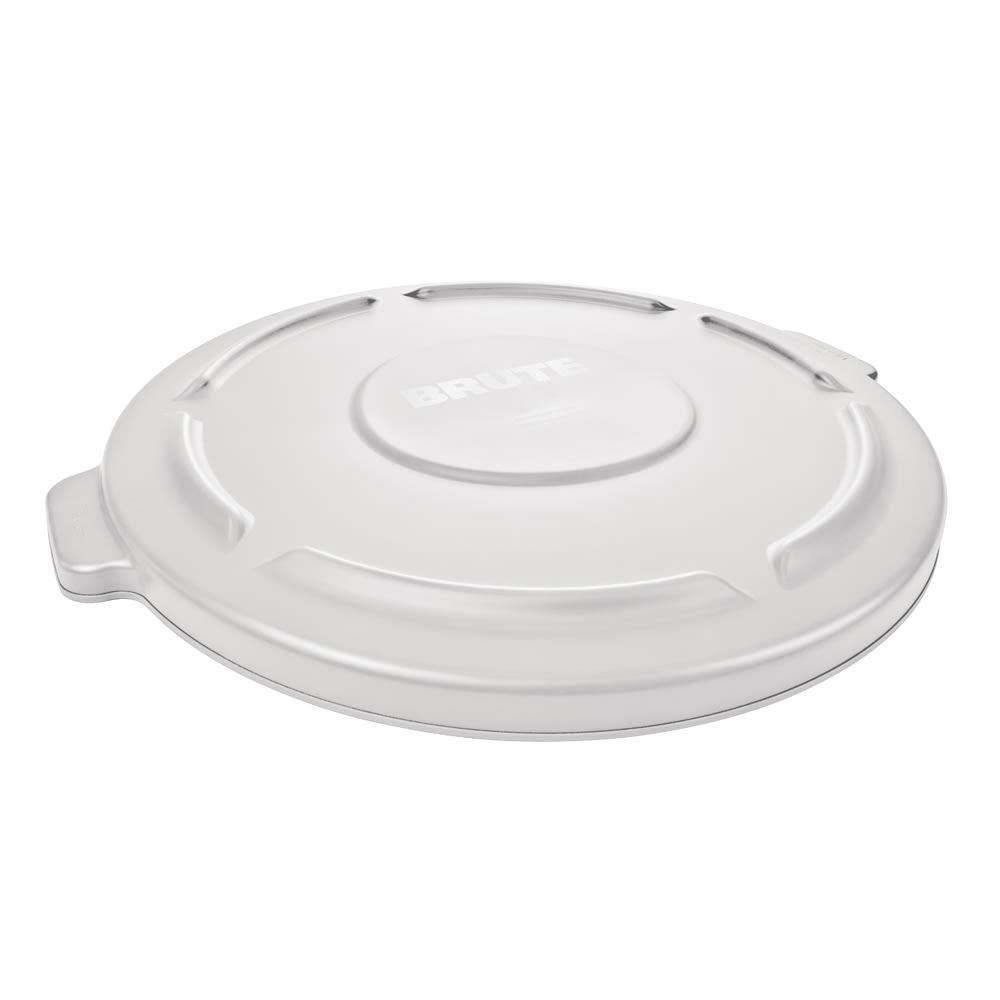 8338e050e2c Rubbermaid FG261960WHT Round Flat Top Trash Can Lid - Plastic