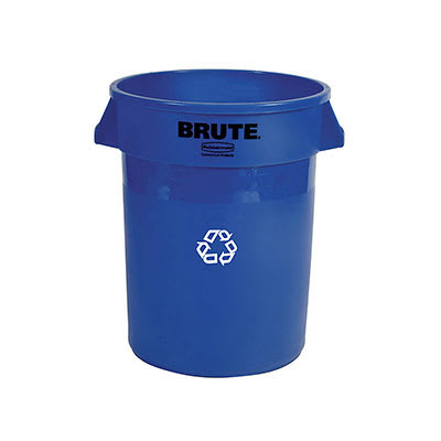 Rubbermaid FG262073BLUE 20-gal Multiple Material Recycle Bin - Indoor/Outdoor