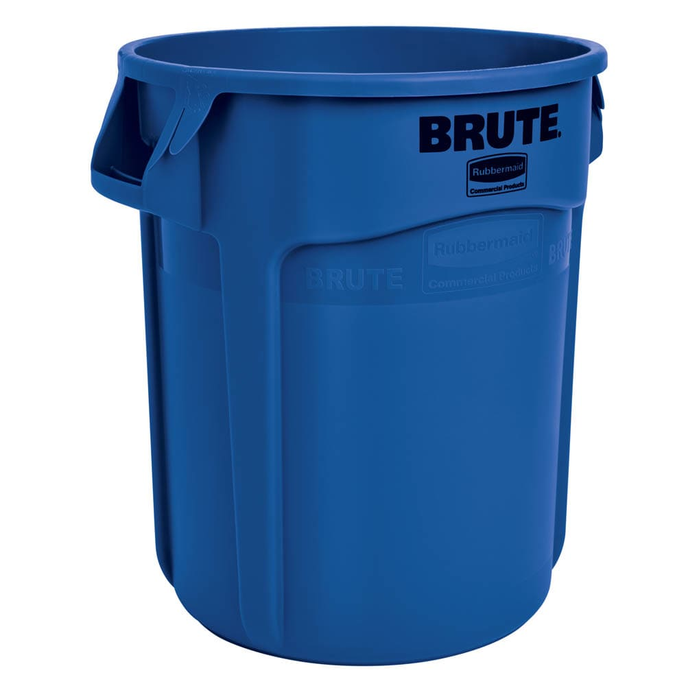 Rubbermaid FG262000BLUE 20 gallon Brute Trash Can - Plastic, Round, Food Rated