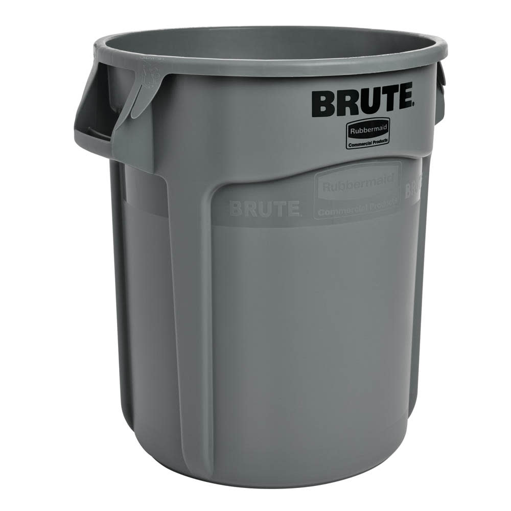 Rubbermaid FG262000GRAY 20 gallon Brute Trash Can - Plastic, Round, Food Rated