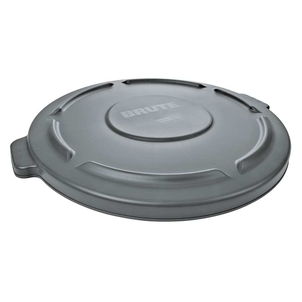 Rubbermaid FG263100GRAY Round Flat Top Trash Can Lid - Plastic, Gray