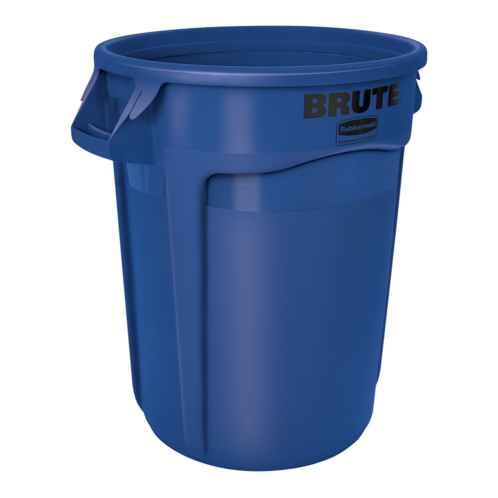 Rubbermaid FG263200BLUE 32-gal Multiple Material Recycle Bin - Indoor/Outdoor