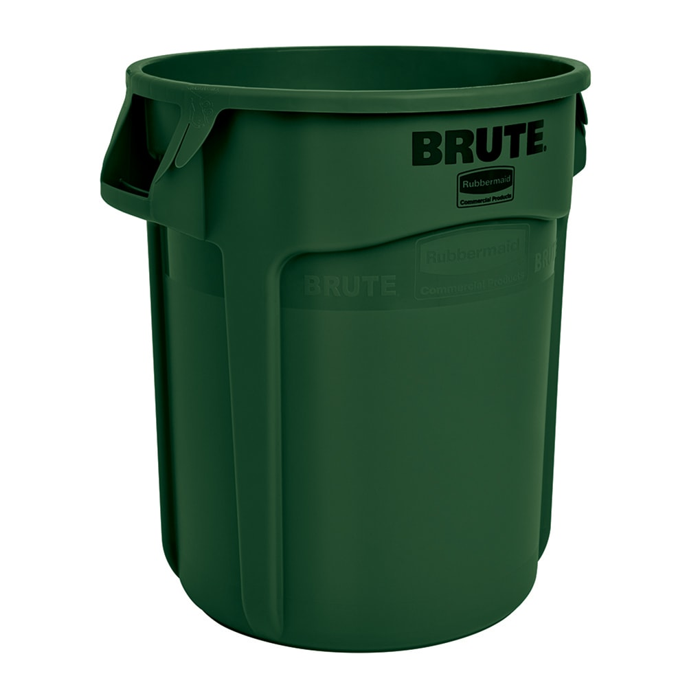 Rubbermaid FG263200DGRN 32-gallon Brute Trash Can - Plastic, Round, Food Rated