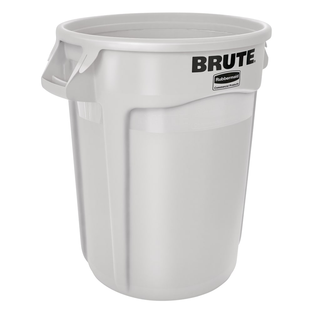Rubbermaid FG263200WHT 32-gallon Brute Trash Can - Plastic, Round, Food Rated
