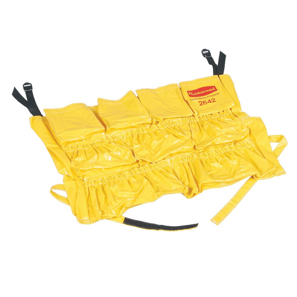 "Rubbermaid FG264200YEL 20"" Round BRUTE Caddy Bag - Yellow"