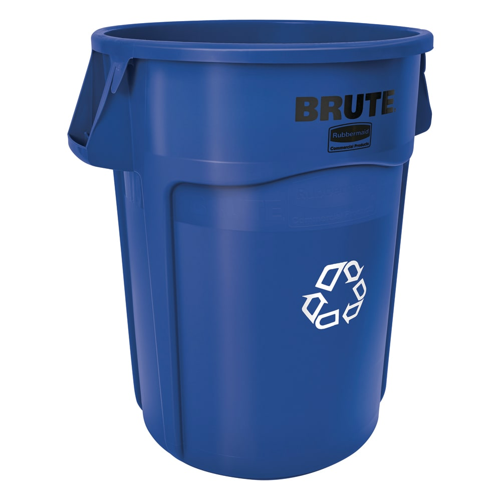 Rubbermaid FG264307BLUE 44 gal Multiple Material Recycle Bin - Indoor/Outdoor
