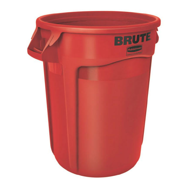 Rubbermaid FG264300RED 44-gallon Brute Trash Can - Plastic, Round, Food Rated