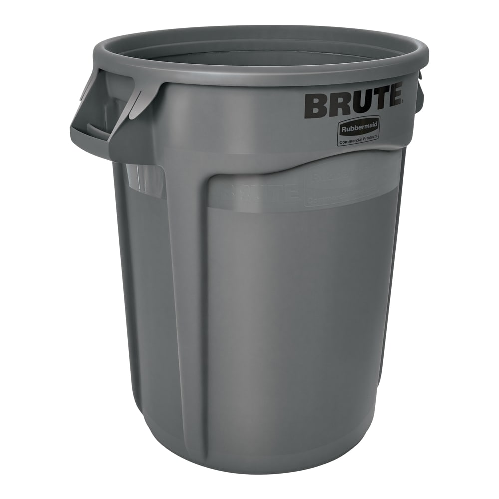 Rubbermaid FG265500GRAY 55 gallon Brute Trash Can - Plastic, Round, Food Rated
