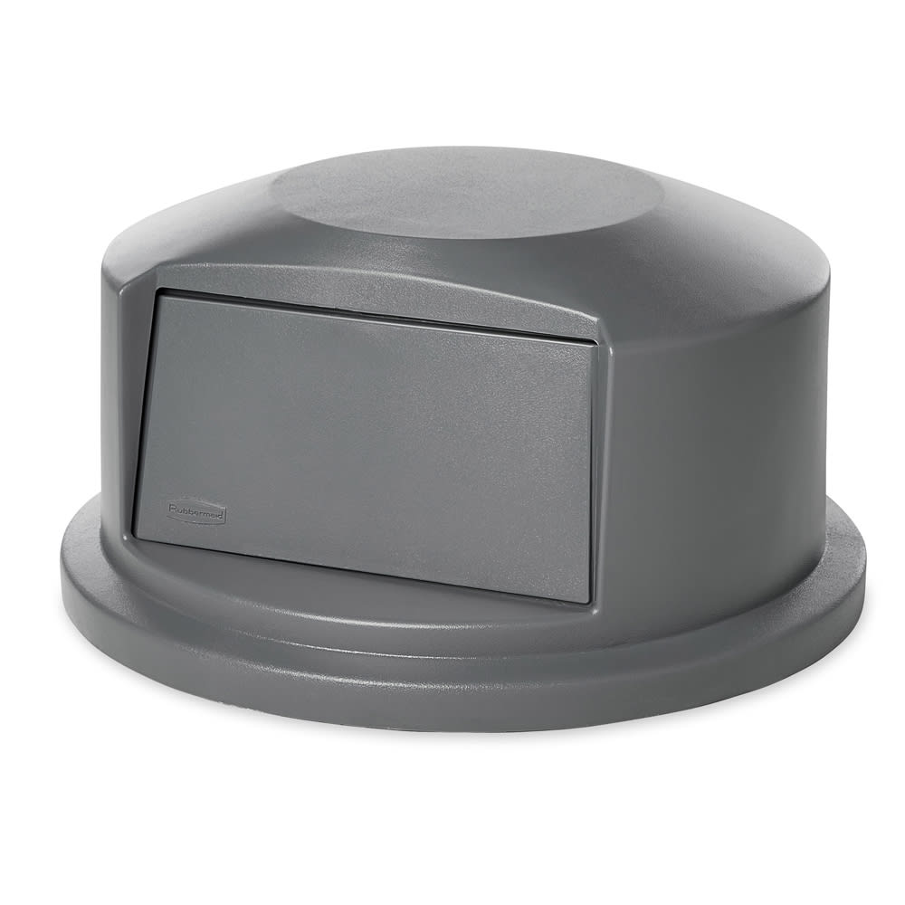 Rubbermaid FG265788GRAY Round Dome Trash Can Lid - Plastic, Gray