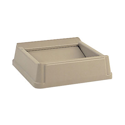Rubbermaid FG266400BEIG Square Swing Top Trash Can Lid - Plastic, Beige