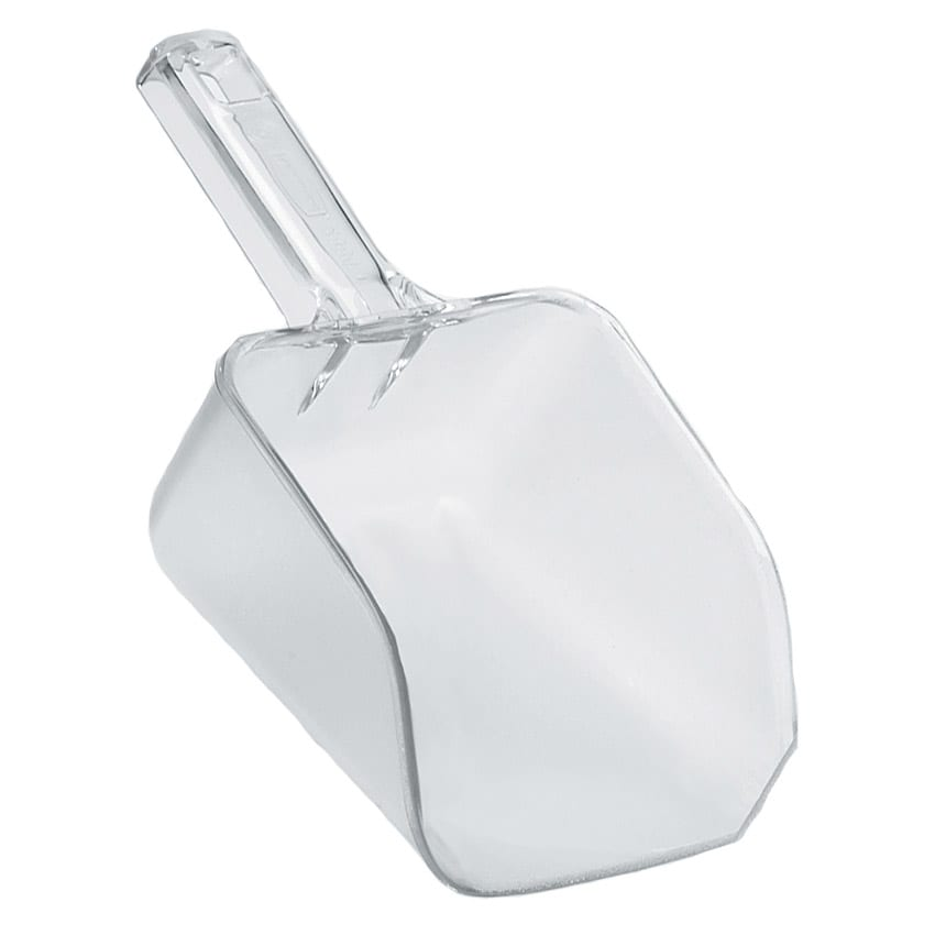 Rubbermaid FG288400CLR 32 oz Bouncer Utility Scoop - Clear Poly