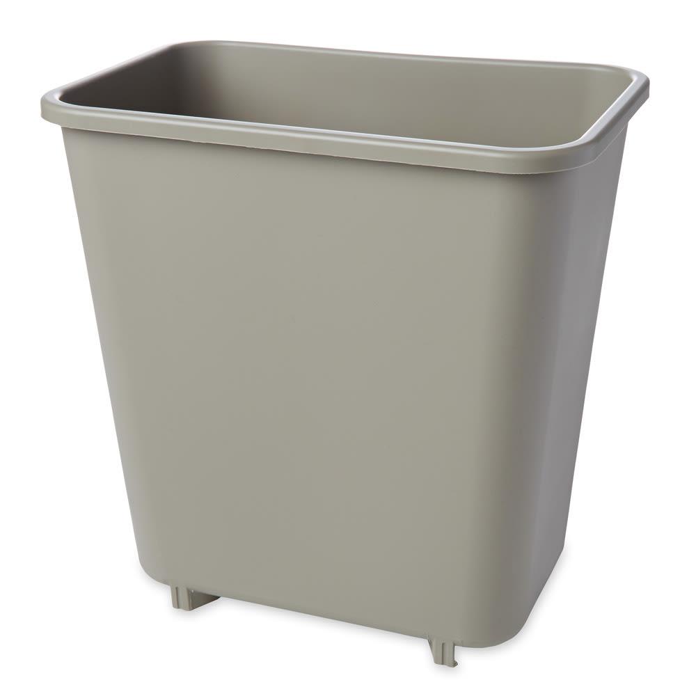Rubbermaid FG295200BEIG 8.125 qt Rectangle Waste Basket - Plastic, Beige