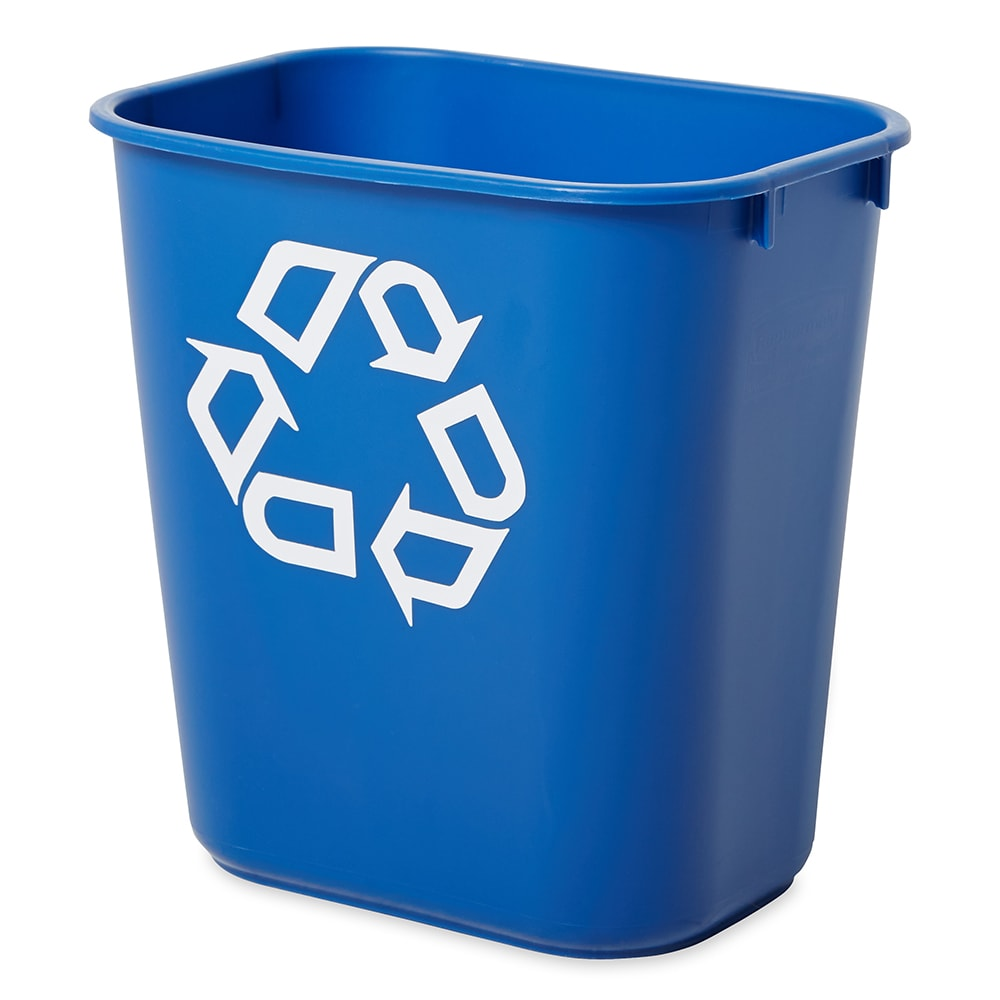 Rubbermaid FG295573BLUE 3.4-gal Multiple Material Recycle Bin - Indoor