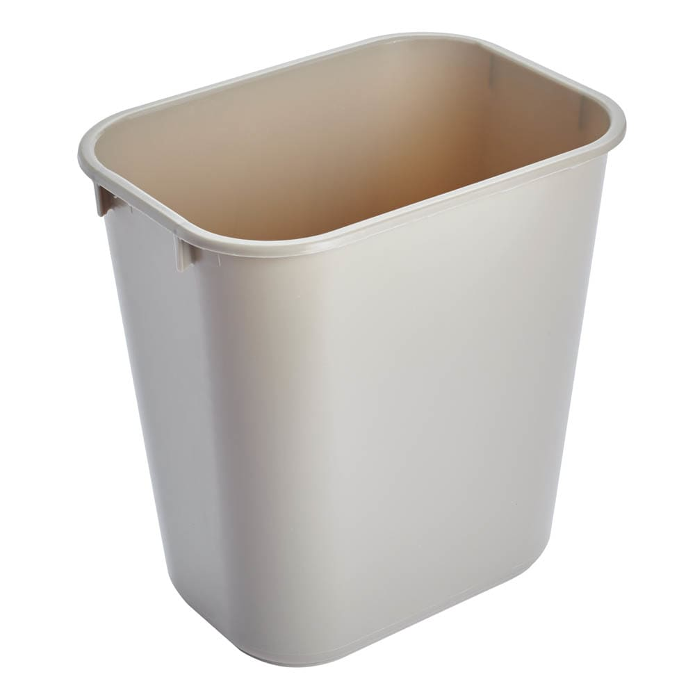 Rubbermaid FG295500BEIG 13.625 qt Rectangle Waste Basket - Plastic, Beige