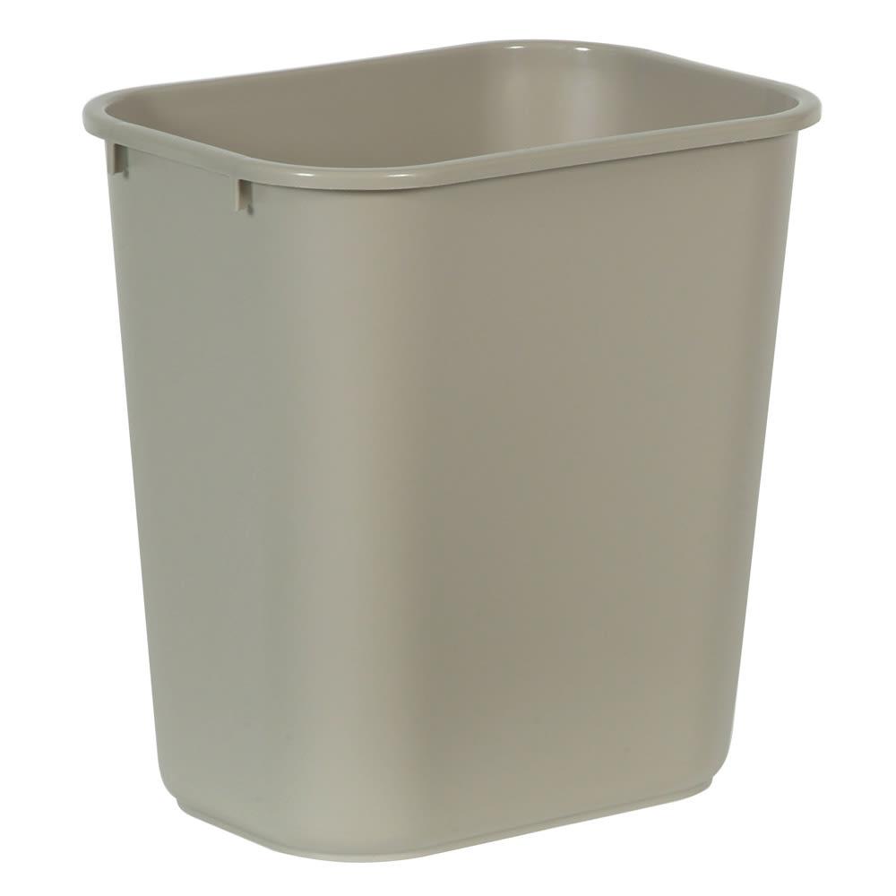 Rubbermaid FG295600BEIG 28.12-qt Rectangle Waste Basket - Plastic, Beige