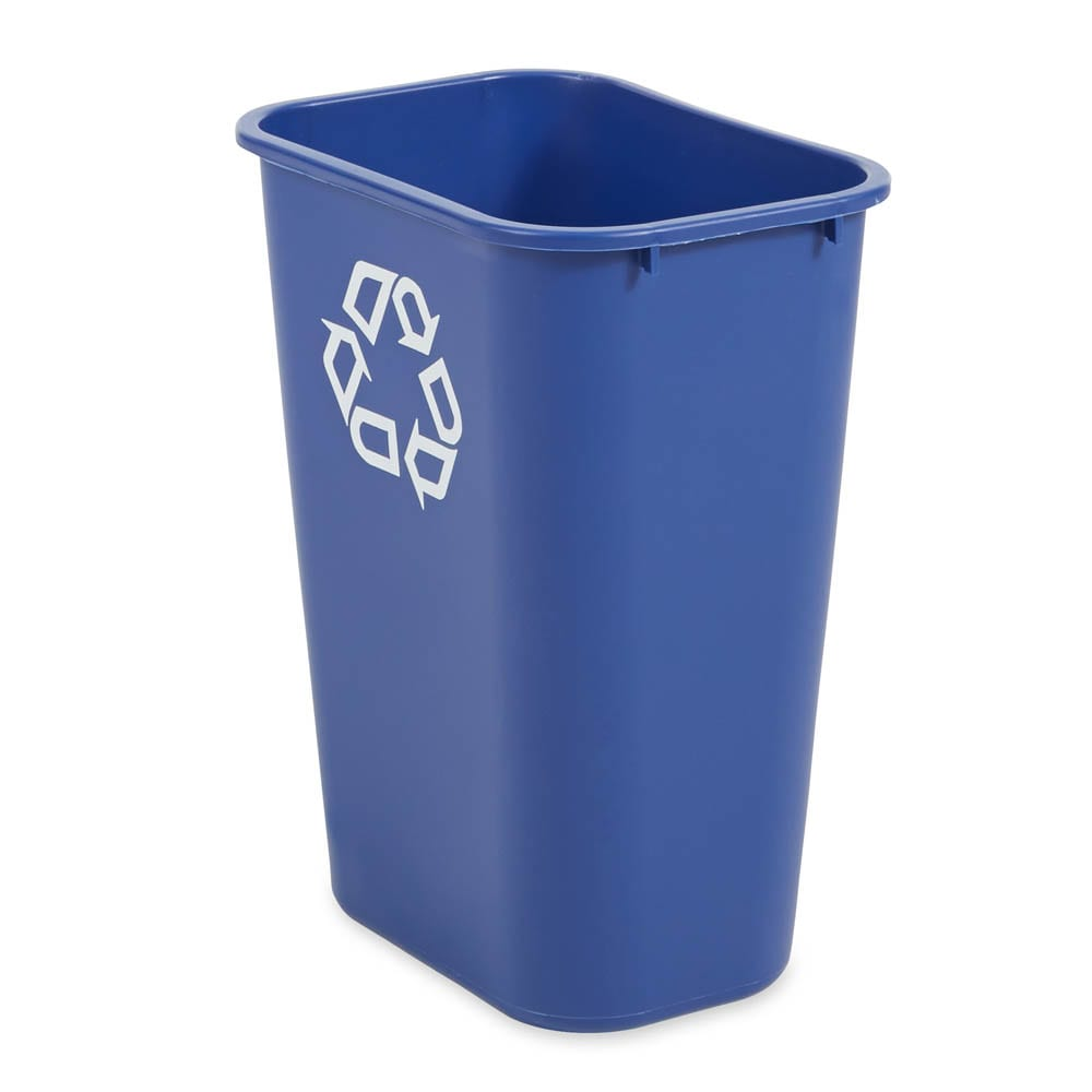 Rubbermaid FG295773BLUE 10.3 gal Multiple Material Recycle Bin - Indoor