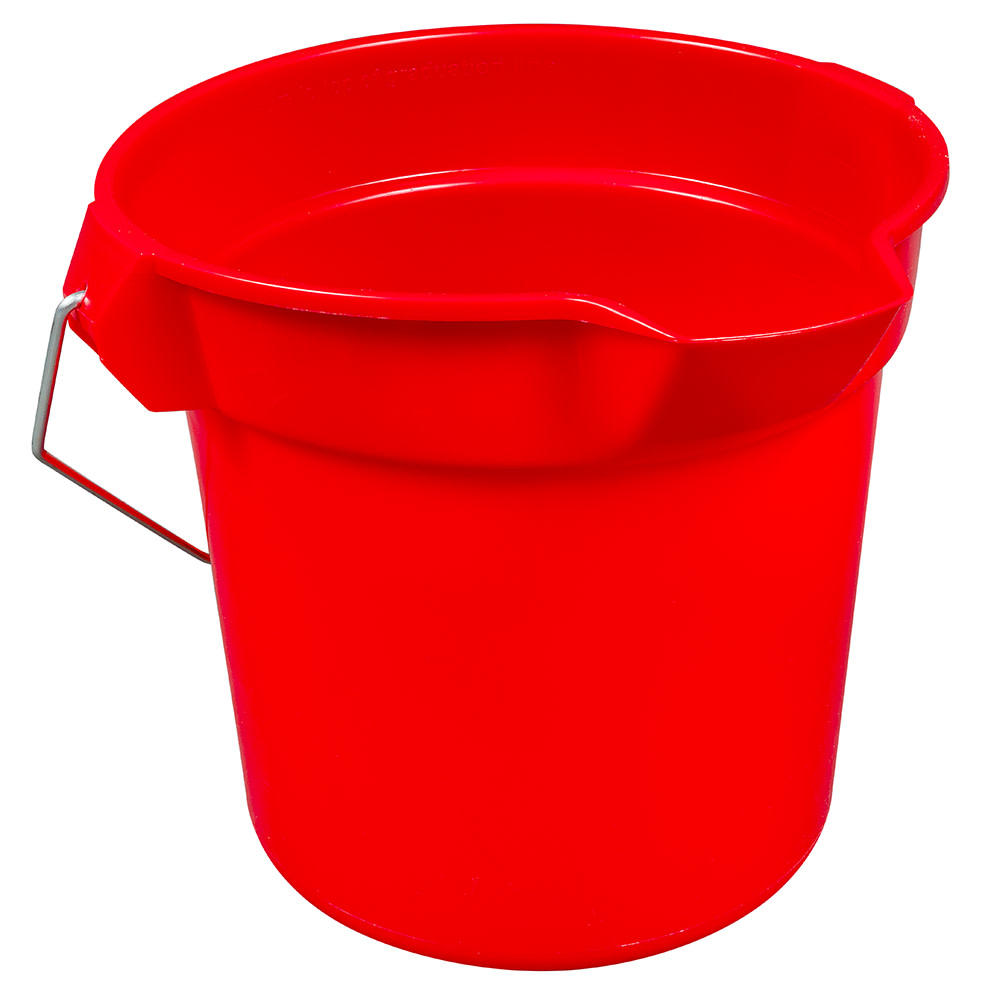 Rubbermaid FG296300RED 10-qt Round BRUTE Bucket - Red