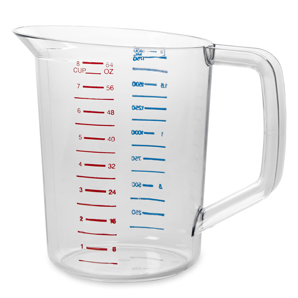 Rubbermaid FG321700CLR 2 qt Bouncer Measuring Cup - Clear Poly